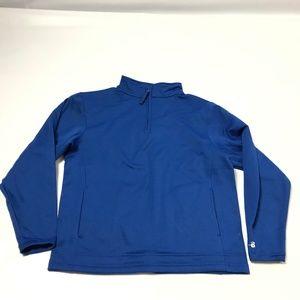 Badger Sport Youth Sweatshirt 1/4 Zip Mock Neck M